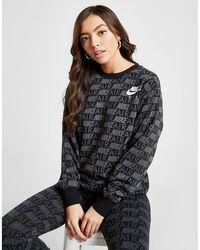 b75f8c4ded96 Nike - Air All Over Print Crew Sweatshirt - Lyst