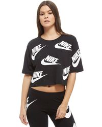 Nike - All Over Print Futura Crop T-shirt - Lyst