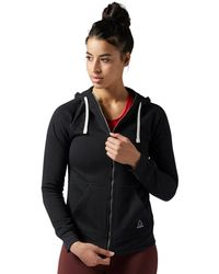 Reebok - Training Essentials Fleece Full Zip Hoodie - Lyst