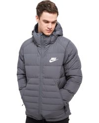 Nike - Padded Down Hooded Jacket - Lyst