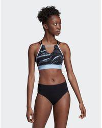 565e03474c48 adidas Originals One-piece Swimsuit With Logo in Black - Lyst