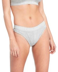 CALVIN KLEIN 205W39NYC - Ribbed Thong - Lyst