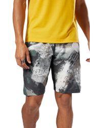 Reebok - Epic Print Ltwt Shorts - Lyst