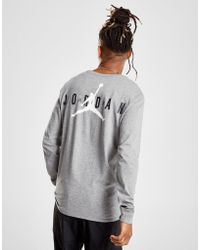 Lyst - Nike Long Sleeve Air Force 1 Tee in Gray for Men dc028291a