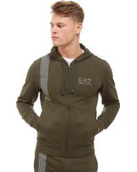 EA7 - 7 Lines Zip Through Hoodie - Lyst