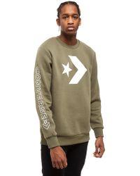 Converse - Big Star Chevron Sweatshirt - Lyst