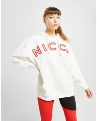 Nicce London - Embroidered Logo Boyfriend Hoodie - Lyst