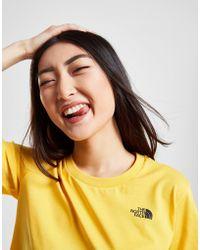 The North Face - Crop Box Logo T-shirt - Lyst