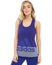 adidas - Logo Cool Tank Top - Lyst
