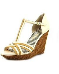 76cea642010 Jessica Simpson - Calista Women Us 10.5 Tan Wedge Sandal - Lyst