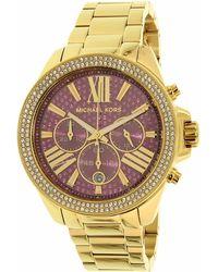 bb00caf050ca Lyst - Michael Kors Wren Pavé Rose Gold-tone Watch in Metallic