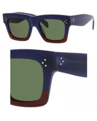 70cd3f897dee7 Céline - Sunglasses 41054  s 0fv7 Burgundy   1e Green Lens - Lyst