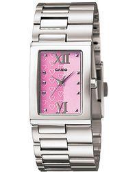 G-Shock - Core Ltp1316d-4a Silver Stainless-steel Quartz Watch - Lyst