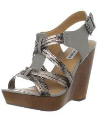 19bd3e9fd7c8 Lyst - Steve Madden Wavi Leather Espadrille Sandals in Metallic