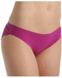 Spanx - Fp2415 Undie-tectable Lace Bikini Panty (begonia Pink M) - Lyst