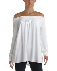 Calvin Klein - Off-the-shoulder Blouse Pullover Top - Lyst