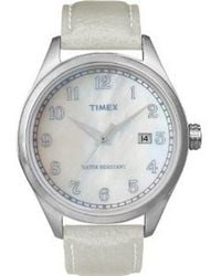 Timex - Originals T2n408 Unisex Pearl Dial Steel Expander Watch - Lyst