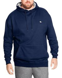 Champion - Big Tall Pullover Fleece Hoodie With Contrast Liner - Lyst