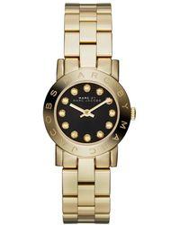 Marc By Marc Jacobs - Amy Mini Mbm3336 Gold/black Analog Quartz Watch - Lyst
