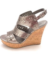 Guess - Vannora Open Toe Casual Platform Sandals - Lyst