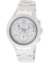 Swatch - Pure Attack Yys4024ag Silver Aluminum Swiss Quartz Fashion Watch - Lyst