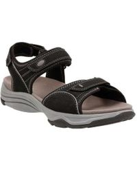 Clarks - Wave Grip Quarter Strap Sandal - Lyst