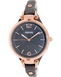 Fossil - Georgia Georgia Leather Watch - Lyst