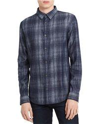 Calvin Klein - Jacquard Button Up Shirt - Lyst