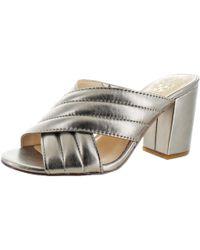 Vince Camuto - Bemia Open Toe Criss Cross Heeled Sandal Shoes - Lyst