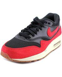 nike wmns air max 1 essential women us 7.5 black sneakers lyst