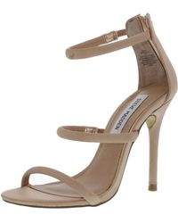 f5df0a38091 Lyst - Steve Madden Wren-r Metallic Strappy Sandals in Metallic