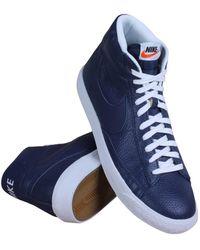 Nike | 429988-402 Men Blazer Mid Prm Binary Blue White | Lyst