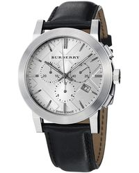 Burberry - Leather Chronograph Watch Bu9355 - Lyst