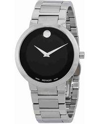Movado - Modern Classic Black Dial Watch 0607119 - Lyst