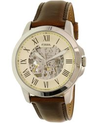 Fossil - Me3099 Grant Leather Watch - Lyst