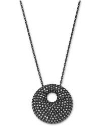 Swarovski | Medium Jet Hematite Pendant Necklace | Lyst