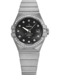 Omega - Constellation 123.55.31.20.51.001 18k White Gold Automatic Ladies Watch - Lyst