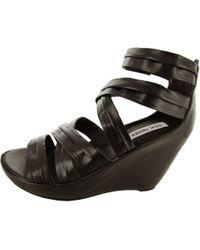 2b796c111ed1 Lyst - Steve Madden Women s Abbby Platform Wedge Sandal in Black