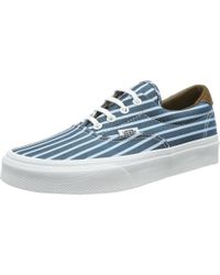 6939ec9a59 Vans - Era 59 Skateboarding Shoes (stripes) Blue true White - Lyst