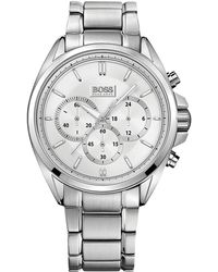 a275c42b420a Lyst - Boss 1513588 Master Watch Silver 41mm Stainless Steel in ...