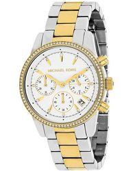 Michael Kors - Ritz Dial Ladies Two Tone Chronograph Watch Mk6474 - Lyst