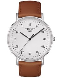 Tissot - T109.610.16.037.00 Everytime Watch Brown 42mm Stainless Steel - Lyst