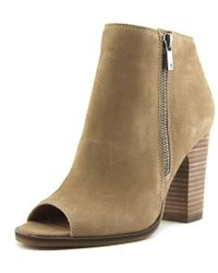 Lucky Brand - Lamija Women Us 6.5 Tan Peep Toe Ankle Boot - Lyst