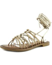 Vince Camuto - Hailey Gold Gladiator Sandal - Lyst