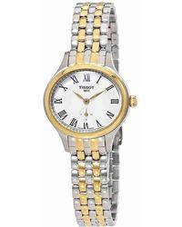 Tissot - Bella Ora Piccola Silver Dial Ladies Two Tone Watch T1031102203300 - Lyst