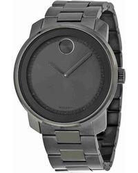 Movado - Bold Grey Dial Grey Ion-plated Quartz Watch 3600259 - Lyst