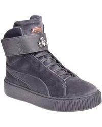 922a540ca79 PUMA - Velour Platform Mid-sole Sneaker - Quiet Shade - Lyst