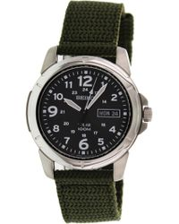 Seiko - Dial Green Nylon Solar Quartz Watch Sne095p2 - Lyst