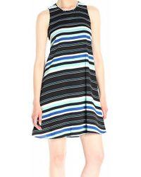 Tommy Hilfiger - Striped Sleeveless Wear To Work Dress - Lyst