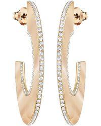Swarovski - Gelane Hoop Pierced Earrings - Lyst